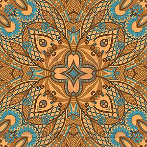 Nahtloses Paisley-Muster - Vector Clip Art