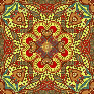 Originales nahtloses Retro-Paisley-Muster - Royalty-Free Clipart
