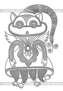 Doodle monster Persönlichkeit - Vector-Bild