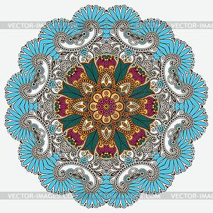 Kreis Ornament, ornamentale runden Spitzen - vektorisiertes Design