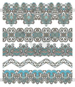 Sammlung von nahtlose ornamentalen floralen Streifen - Vektor-Bild