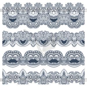 Sammlung von nahtlose ornamentalen floralen Streifen - Vector-Clipart / Vektorgrafik