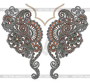 Neckline embroidery fashion - vector image