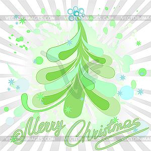 Grüner Weihnachtsbaum - Clipart