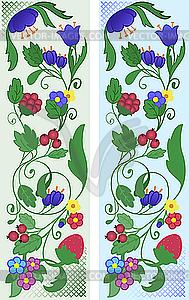 Florale Ornamente - Vektor Clip Art