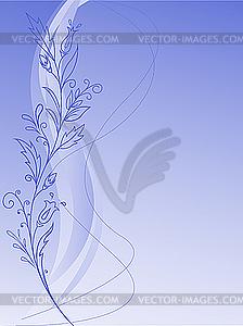 Florales Muster auf blauem Hintergrund - Vector-Clipart / Vektorgrafik