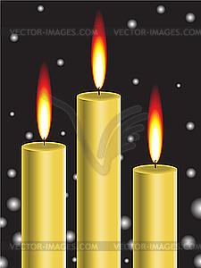 Goldene Kerzen - Vector Clip Art