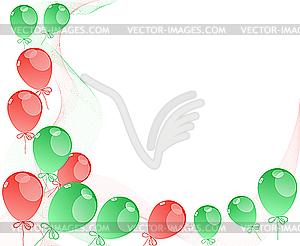 Luftballons - vektorisierte Grafik
