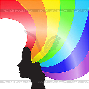 Rainbow Hair - Vector-Clipart / Vektor-Bild