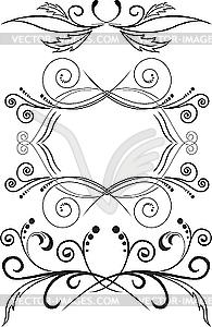 Menge der symmetrischen Ornamenten - Vektor-Clipart