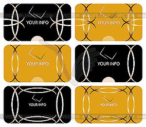 Visitenkarten - Vector-Clipart EPS