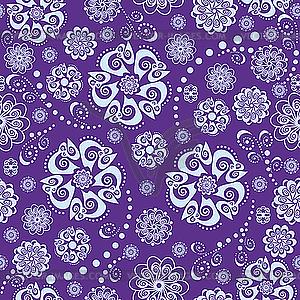 Florales orientalisches nahtloses Pattern - Vector-Abbildung