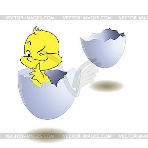 Gelb Huhn in Ei. - Vektor Clip Art