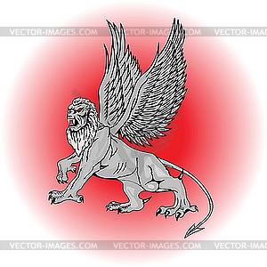 Große mythologische Griffin. - Vektorgrafik-Design