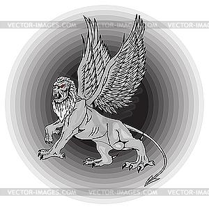 Große mythologische Griffin. - vektorisierte Abbildung