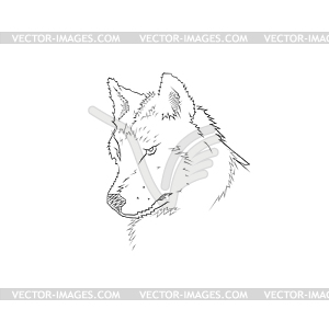 Kopf ded Wolfes - Vector-Illustration