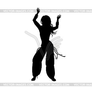 Die Mädchen tanzen Osten Tanz. - Vector-Illustration