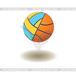Angeschlossene Volleyball und Basketball - Bälle - Vector-Illustration