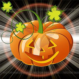 Kürbis für Halloween - Vector-Clipart