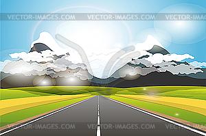 Landschaft von Bergen - Vektorgrafik-Design