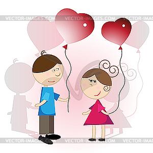 Liebe - Vektorgrafik-Design