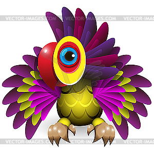 Papagei - farbige Vektorgrafik
