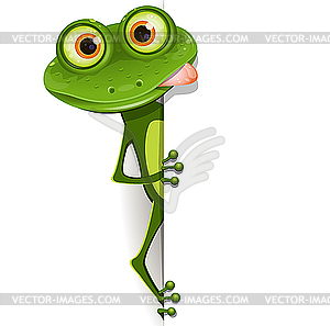 Frosch in Brille - Vector-Clipart / Vektor-Bild