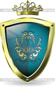 Schild und Krone - vektorisiertes Design