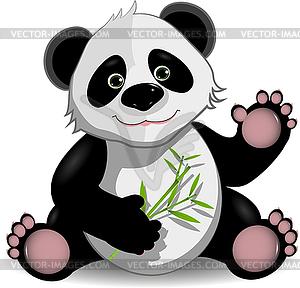 Comic-Panda - Vektorabbildung