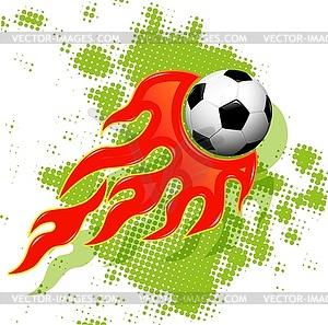 Fußball im Feuer - Vector-Clipart EPS