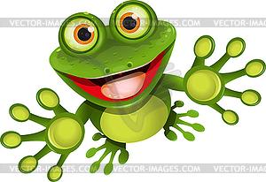 Fröhlicher Frosch - Vector-Clipart / Vektor-Bild