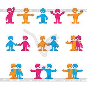 Zeichen mit Menschen - Vector-Bild