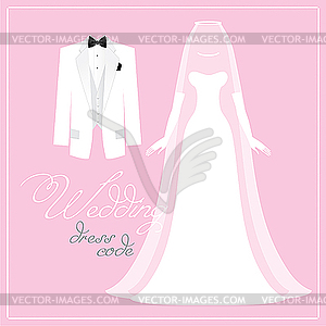 Hochzeits Dress Code - Vector-Clipart EPS
