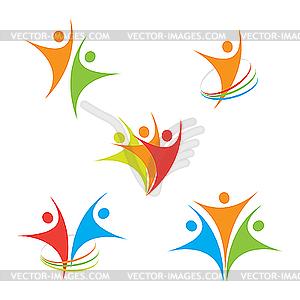 Icons mit Menschen - Vektor-Clipart / Vektorgrafik