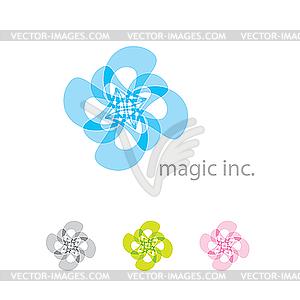 Abstraktes Logo - farbige Vektorgrafik