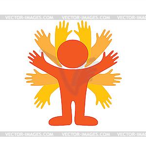 Kraftvoller Mann - Vector-Clipart / Vektor-Bild