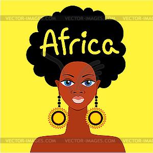 Afrikanisches Mädchen - vektorisierte Grafik