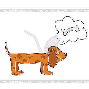 Hund und Knochen - Vector-Design