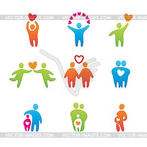 Glückliche Menschen - Vector-Clipart / Vektor-Bild