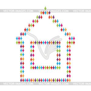 Haus für Menschen - Royalty-Free Clipart
