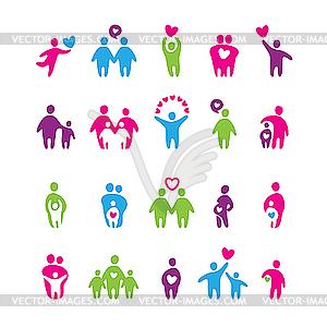 Set von Icons - Familie und Liebe - Vektor-Bild