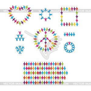Icons mit Menschen - Vektorgrafik