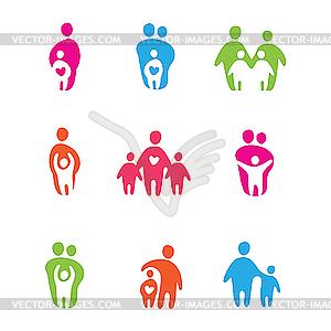 Eltern und Kinder - Clipart-Design