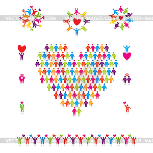 Zeichen der Liebe und Freundschaft - Vektor-Abbildung