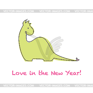 Love in the New Year - Stock Vektor-Bild