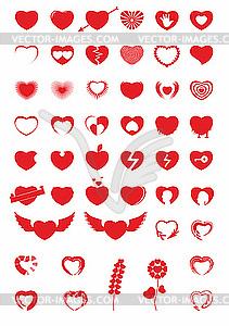 Herz-Icons - Vektor-Bild