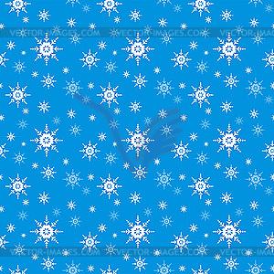 Nahtloser Hintergrund mit Schneeflocken - vektorisiertes Clipart