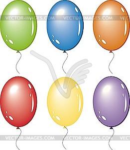 Luftballons - Vector Clip Art