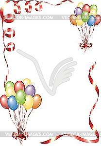 Rahmen mit Luftballons - Vector-Illustration