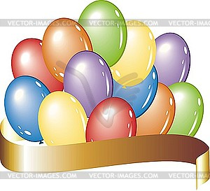 Luftballons mit einem Band - vektorisiertes Bild